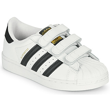 Shoes Children Low top trainers adidas Originals SUPERSTAR CF C White / Black