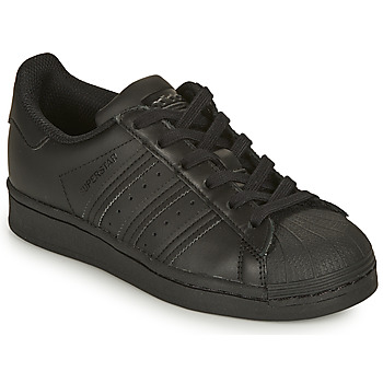Shoes Children Low top trainers adidas Originals SUPERSTAR J Black