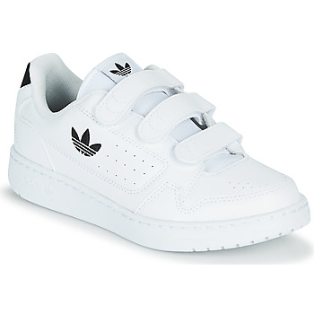Shoes Children Low top trainers adidas Originals NY 92  CF C White / Black