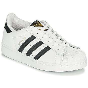 Shoes Children Low top trainers adidas Originals SUPERSTAR C White / Black