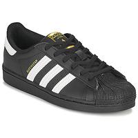 Shoes Children Low top trainers adidas Originals SUPERSTAR C Black / White