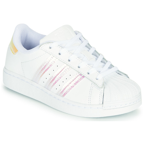 adidas Originals SUPERSTAR C White / Iridescent - Fast delivery ...