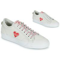Shoes Women Low top trainers adidas Originals NIZZA  TREFOIL W White / Red