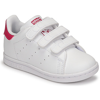 Shoes Girl Low top trainers adidas Originals STAN SMITH CF I SUSTAINABLE White / Pink