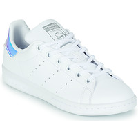 Shoes Girl Low top trainers adidas Originals STAN SMITH J SUSTAINABLE White / Iridescent
