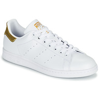 Shoes Women Low top trainers adidas Originals STAN SMITH W SUSTAINABLE White / Gold