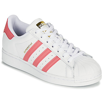 Shoes Women Low top trainers adidas Originals SUPERSTAR W White / Pink