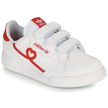 Shoes Girl Low top trainers adidas Originals CONTINENTAL 80 CF C White / Red