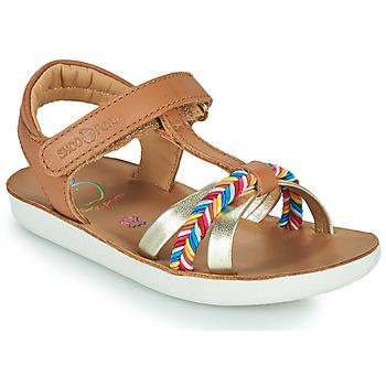 Shoes Girl Sandals Shoo Pom GOA SALOME Brown