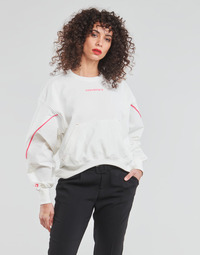 material Women sweaters Converse BLOCKED ALTERRAIN CREW White