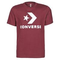 material Men short-sleeved t-shirts Converse STAR CHEVRON TEE Bordeaux