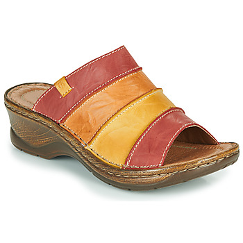 Shoes Women Mules Josef Seibel CATALONIA 64 Red / Orange / Yellow