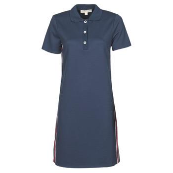 material Women Short Dresses MICHAEL Michael Kors SS LOGO TAPE POLO DRS Marine