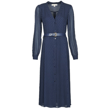 material Women Long Dresses MICHAEL Michael Kors PERFECTION DOT DRS Marine