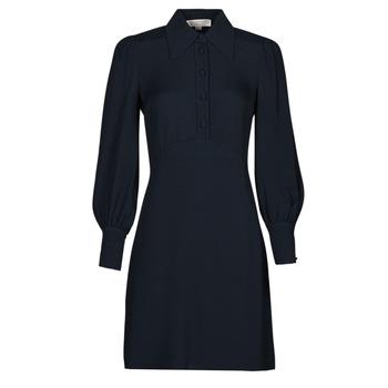 material Women Short Dresses MICHAEL Michael Kors VI SATIN MINI DRESS Marine