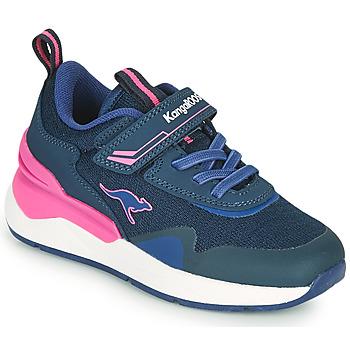 Shoes Girl Low top trainers Kangaroos KD-GYM EV Blue / Pink