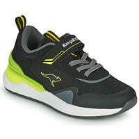 Shoes Boy Low top trainers Kangaroos KD-GYM EV Black / Yellow
