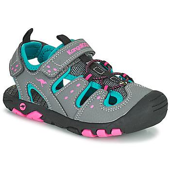 Shoes Girl Sandals Kangaroos K-TREK Grey / Blue