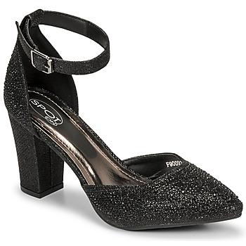 Shoes Women Sandals Spot on  Black