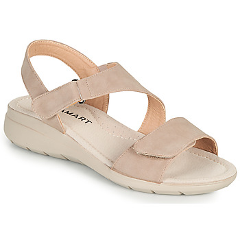 Shoes Women Sandals Damart 67808 Beige / Pink
