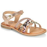 Shoes Girl Sandals Gioseppo VERONA Pink / Gold