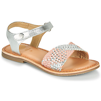 Shoes Girl Sandals Gioseppo QUINCY Silver / Pink