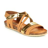 Shoes Women Sandals IgI&CO DREZZINA Cognac / Gold