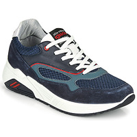 Shoes Men Low top trainers IgI&CO COCULA Marine / Red