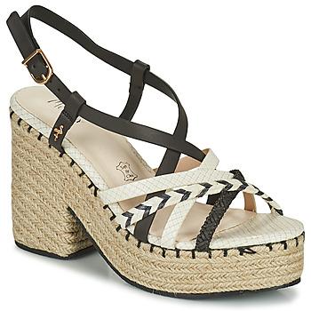 Shoes Women Sandals Menbur BALMUCCIA Black / White