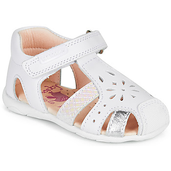 Shoes Girl Sandals Pablosky PLUTO White / Silver