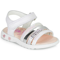 Shoes Girl Sandals Pablosky KADDO White / Silver