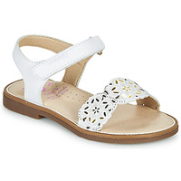 Shoes Girl Sandals Pablosky SUZZY White / Gold