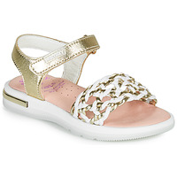 Shoes Girl Sandals Pablosky DANIE Gold / White