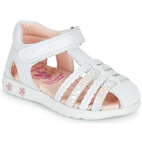 Shoes Girl Sandals Pablosky TONNI White / Pink