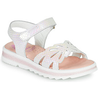 Shoes Girl Sandals Pablosky LILLO White / Mother-of-pearl