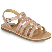 Shoes Girl Sandals Citrouille et Compagnie MAYANA Pink / Gold