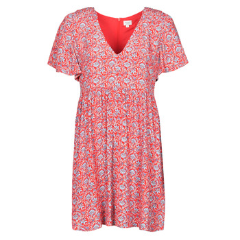 material Women Short Dresses Pepe jeans CAROLINA Red / Blue