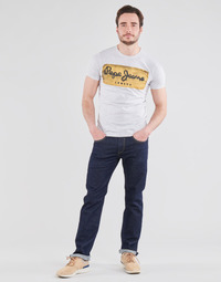 material Men straight jeans Pepe jeans CASH Blue / Raw / Aa9