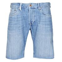 material Men Shorts / Bermudas Pepe jeans STANLEU SHORT BRIT Blue / Clear