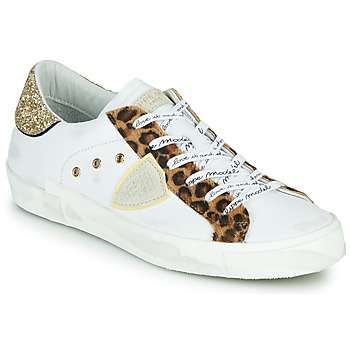Shoes Women Low top trainers Philippe Model PARIS White / Leopard
