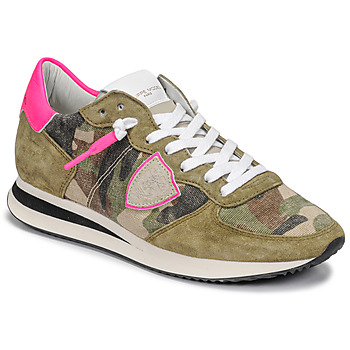 Shoes Women Low top trainers Philippe Model TROPEZ X Camouflage