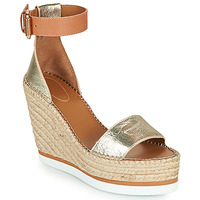 Shoes Women Espadrilles See by Chloé GLYN Gold