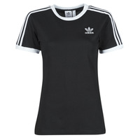 material Women short-sleeved t-shirts adidas Originals 3 STRIPES TEE Black