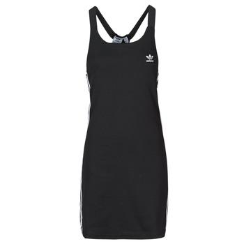 material Women Short Dresses adidas Originals RACER B DRESS Black