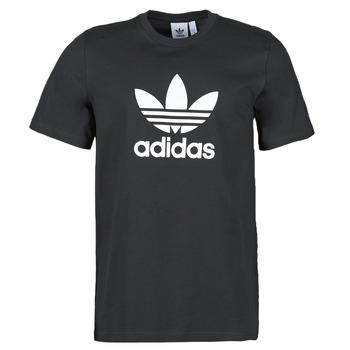 material Men short-sleeved t-shirts adidas Originals TREFOIL T-SHIRT Black