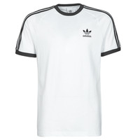 material Men short-sleeved t-shirts adidas Originals 3-STRIPES TEE White