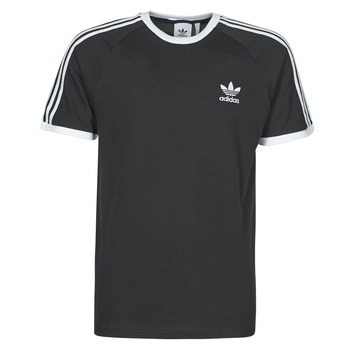 material Men short-sleeved t-shirts adidas Originals 3-STRIPES TEE Black