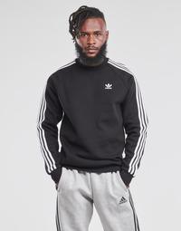 material Men sweaters adidas Originals 3-STRIPES CREW Black