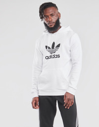 material Men sweaters adidas Originals TREFOIL HOODIE White