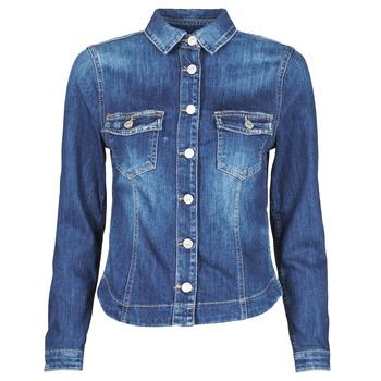 material Women Denim jackets Le Temps des Cerises LILLY Blue
